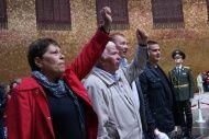 Волгоградские коммунисты встретились с греческими антифашистами на Мамаевом Кургане