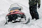 В Волгоградской области тормазнули снегоходы