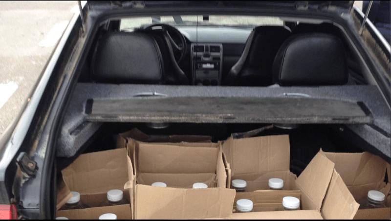 Инспекторы ДПС обнаружили при досмотре Приоры сто литров спирта