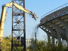 В Волгограде в ходе демонтажа Центрального стадиона нашли боеприпасы времен Великой Отечественной