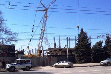 В Волгограде частично обрушилась строящаяся к ЧМ-2018 гостиница