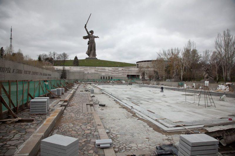 Реставрация Мамаева кургана: вечный огонь вновь зажгут 2 мая