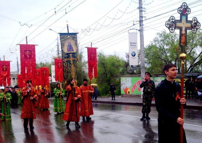 В День Победы от храма Иоанна Предтечи в Волгограде стартовал крестный ход
