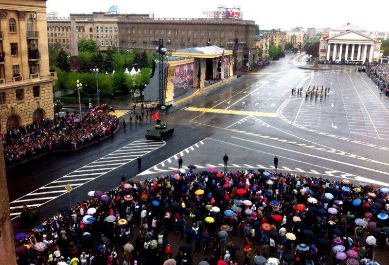 Волгоградцы пожаловались на перекрытую на параде площадь Павших борцов