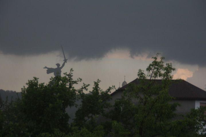 В ближайшие 1-3 часа в Волгограде ожидаются сильные дожди, ливни и грозы
