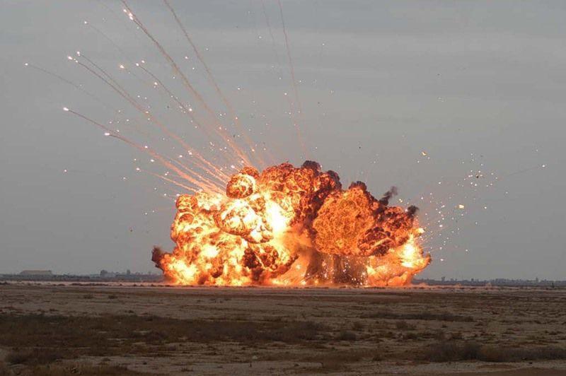 На астраханском полигоне произошел взрыв