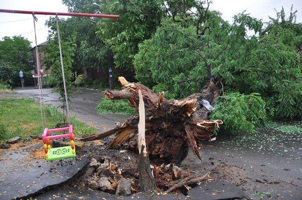 В Ростов-на-Дону шторм принес страшные последствия