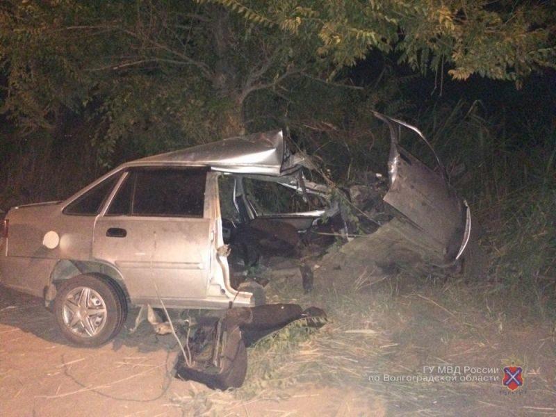 В Кировском районе Волгограда водитель врезался в дерево и погиб