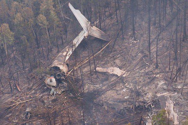 На месте крушения Ил-76 обнаружены тела членов экипажа
