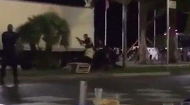 В Интернет попало видео ликвидации террориста в Ницце