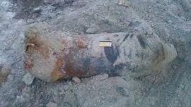 На севере Волгограда обнаружена авиабомба времен войны