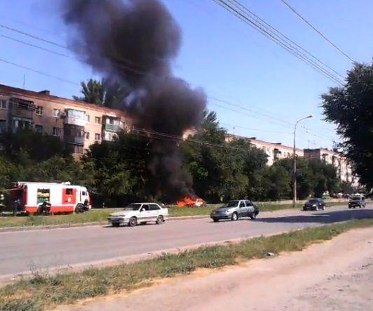 В Краснооктябрьском районе Волгограда сгорела Daewoo Nexia