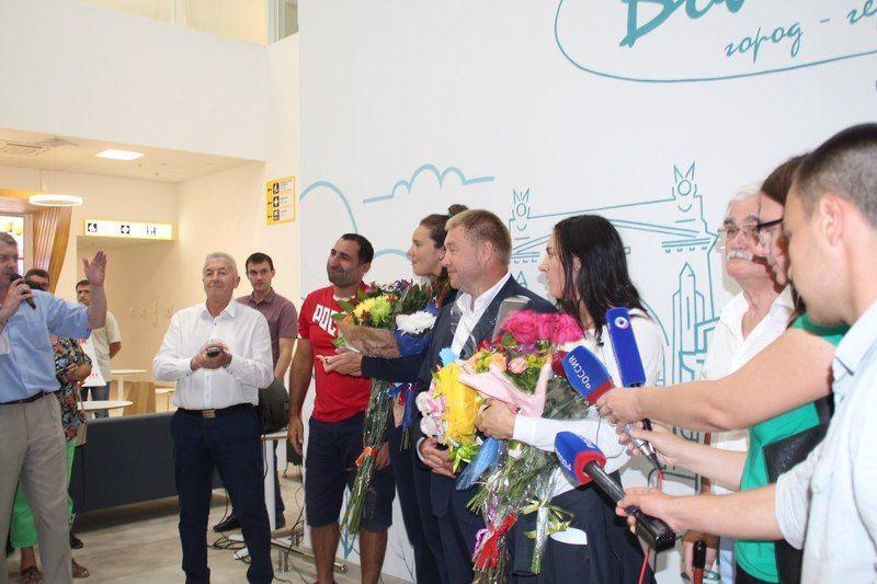 Волгоградцы встретили призеров Олимпийских игр в Рио-де-Жанейро