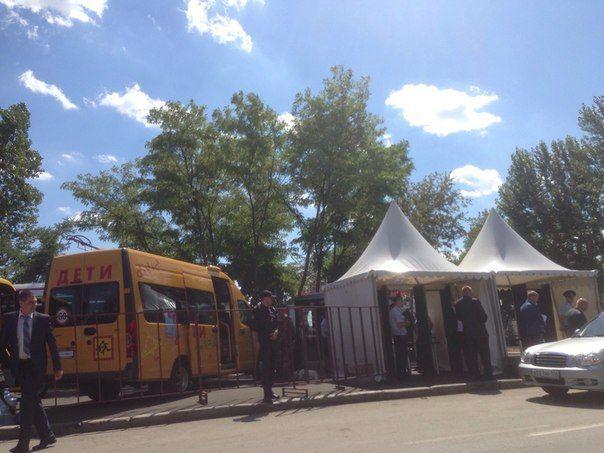В Волгограде шатры к заседанию Госсовета возвели в рекордно короткие сроки. ФОТО