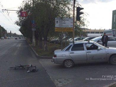 На севере Волгограда легковушка сбила велосипедиста