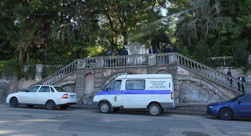Перед зданием абхазской телерадиокомпании произошел теракт
