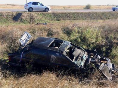 Взрыв колеса у иномарки привел к гибели водителя