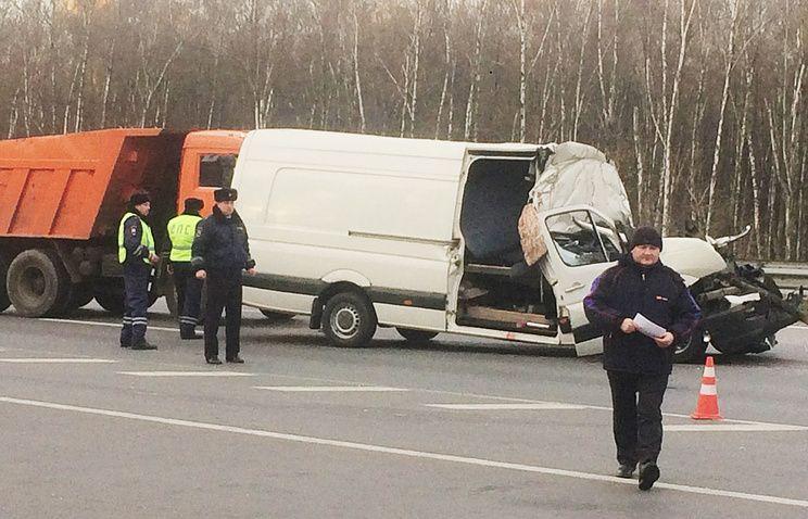 """В Подмосковье в ДТП на трассе """"Дон"""" погибли семь человек"""