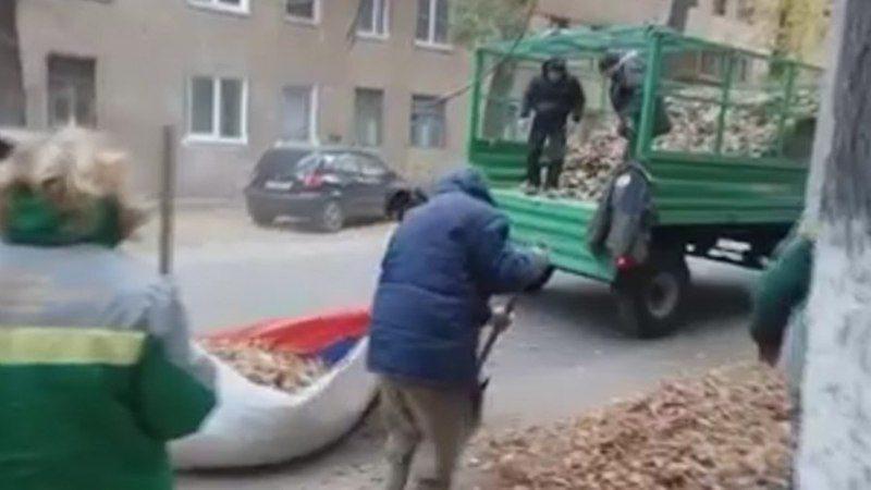 В Волгограде полиция проводит проверку по факту использования российского флага в качестве мусорного мешка