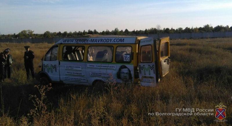 В Волжском перевернулась маршрутка: пострадали 10 человек