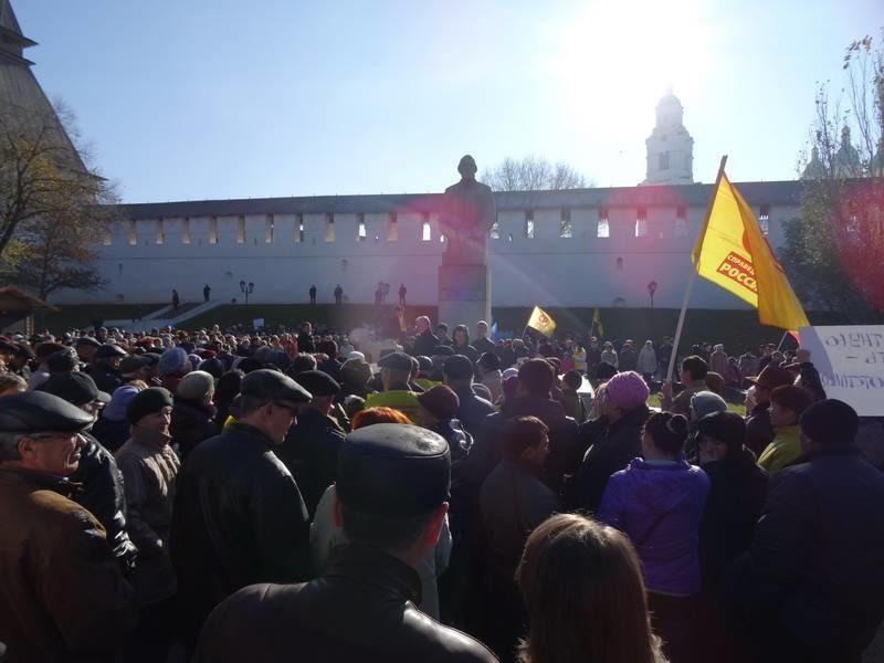 В Астрахани более тысячи людей вышли на митинг против местных властей
