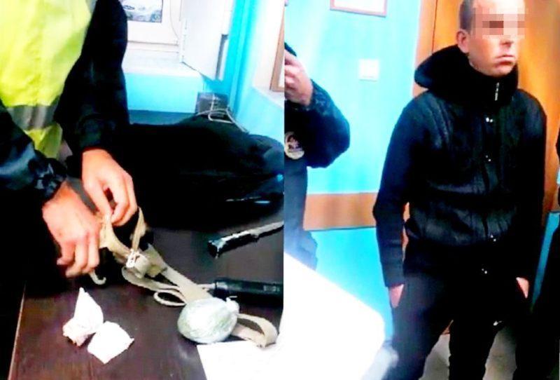 На посту ДПС задержан очередной пассажир с марихуаной