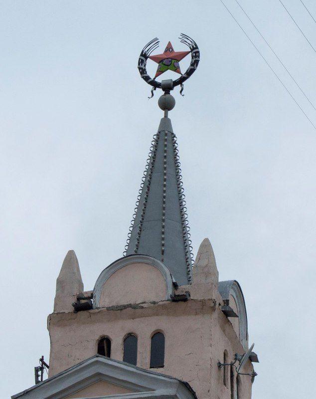 В Воронеже советская звезда превратилась в Патрика из «Спанч Боба»