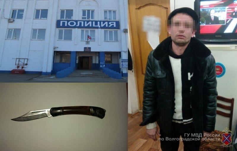 На юге Волгограда на девушку напал рецидивист с ножом