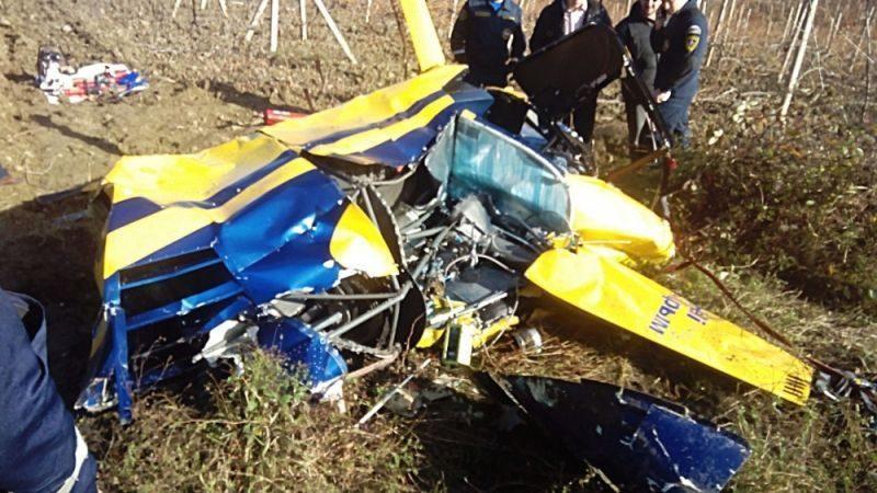 По факту падения вертолета в Крыму возбудили уголовное дело