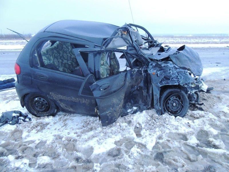 Под Волгоградом столкнулись «Daewoo matiz» и пассажирский микроавтобус: есть жертвы