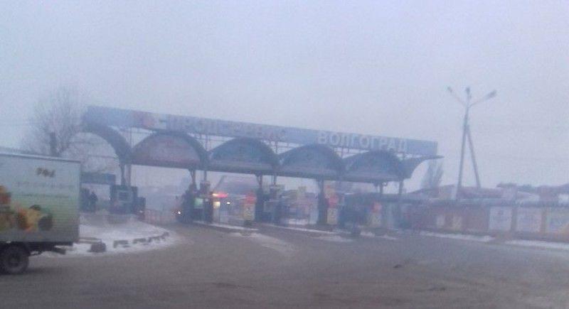 В Волгограде горела оптовая база