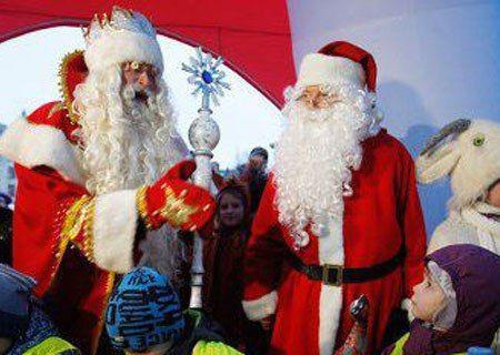 Дед Мороз и Йоулупукки встретились на российской границе