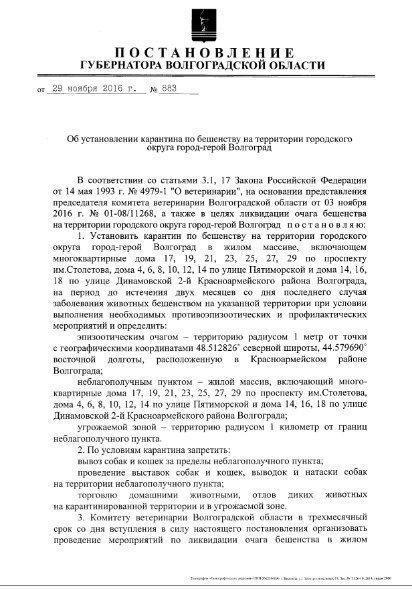 В жилой зоне Красноармейского района установили карантин по бешенству