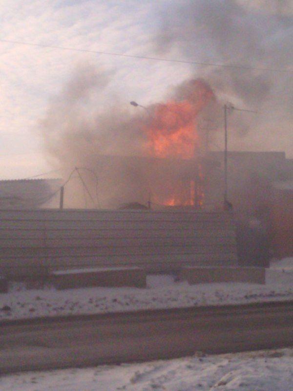 В Кировском районе сгорела безызвестная сторожка
