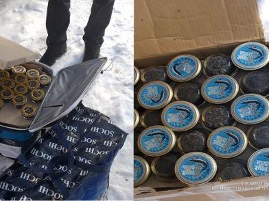 Житель Кировского района задержан с 15 кг черной икры