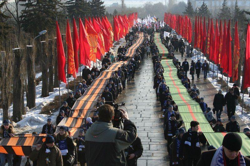 Празднование 73-1 годовщины победы в Сталинградской Битве