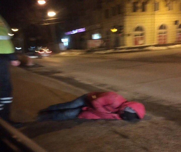 Пьяный пешеход на Комсомольском мосту устроил переполох