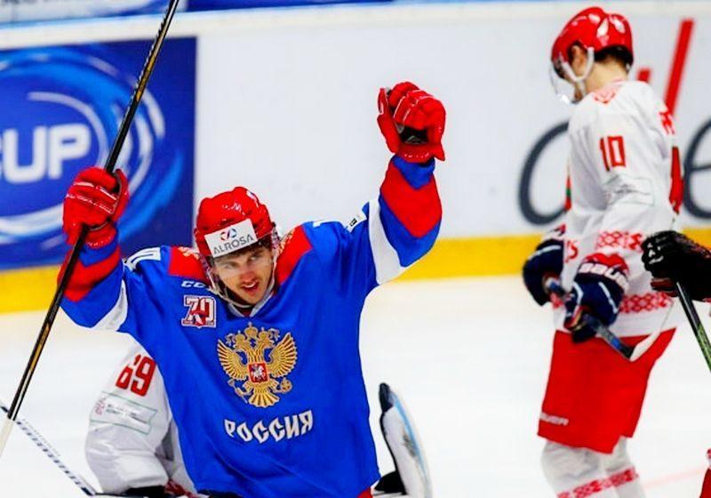 Олимпийская сборная России по хоккею обыграла Белоруссию