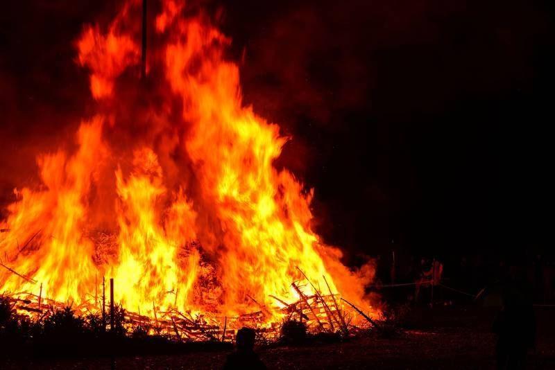 При пожаре на сеновале погиб мужчина