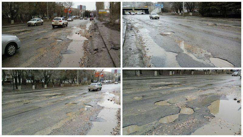 Администрация Волгограда решила взяться за ремонт главных дорог города