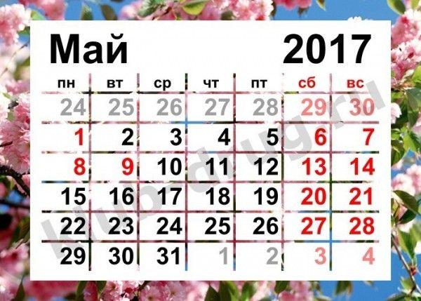 В майские праздники россияне будут отдыхать 7 дней