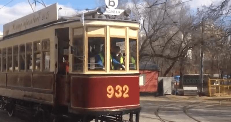 В Москве проходит парад трамваев начала XX века