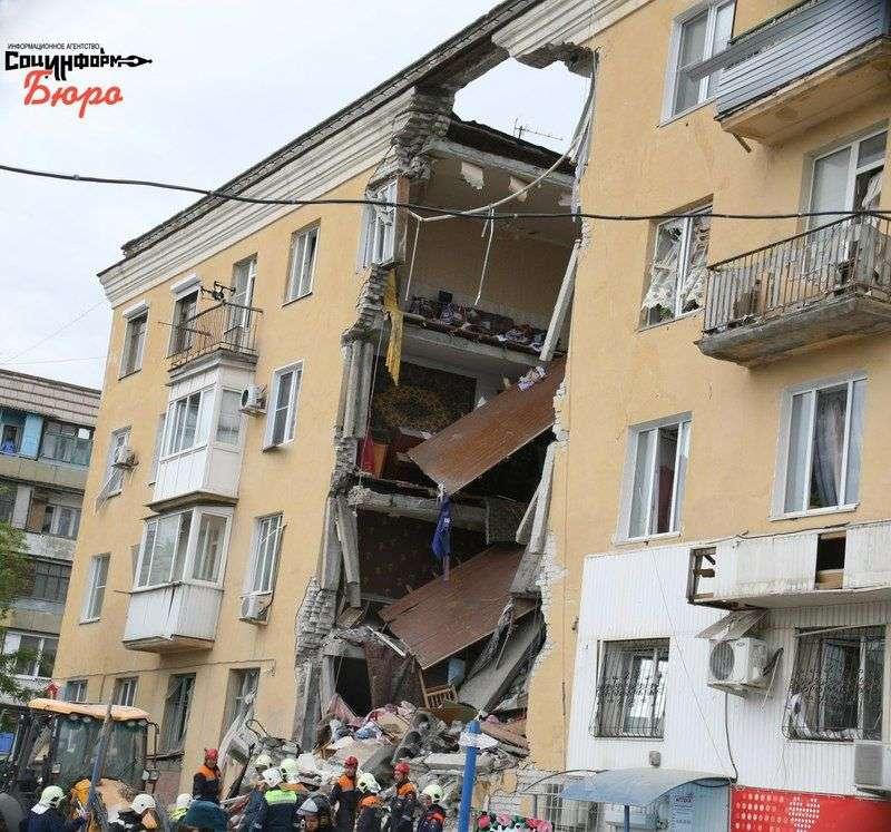 Появилось видео с места взрыва жилого дома в Волгограде