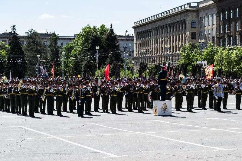 В Волгограде состоялась генеральная репетиция парада Победы