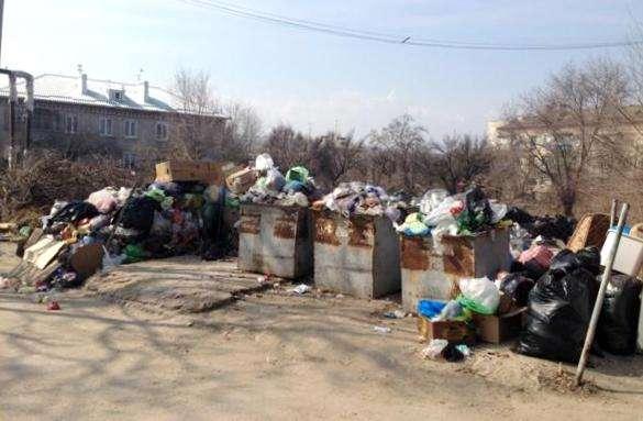 В Волгограде ООО «ЖЭК» захламляет мусором контейнерные площадки