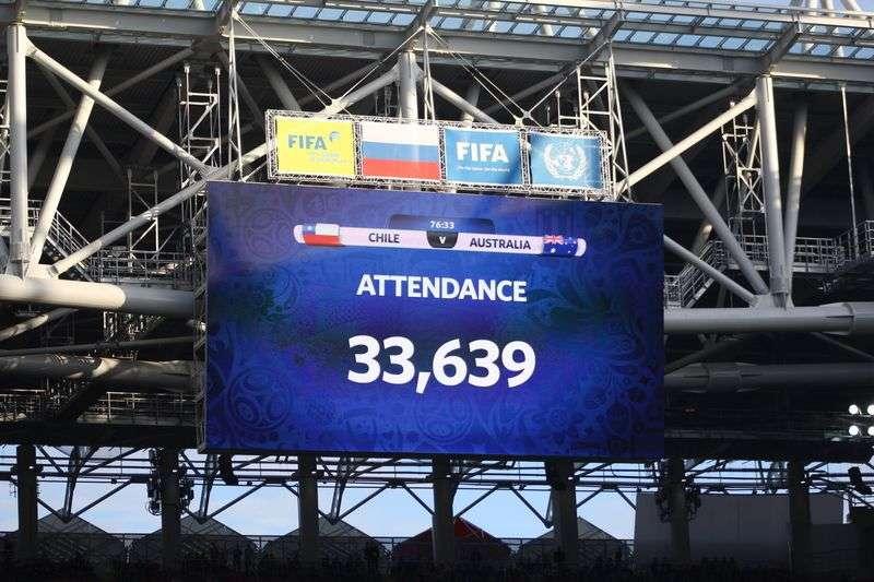 Матчи Кубка Конфедераций покажут на большом уличном экране