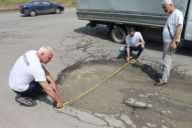 Состояние дорог в Волгограде продолжает оставаться плачевным