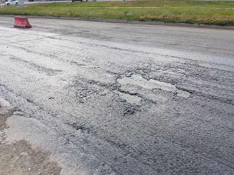 Качество ремонта дороги на Третьей Продольной вызывает сомнение