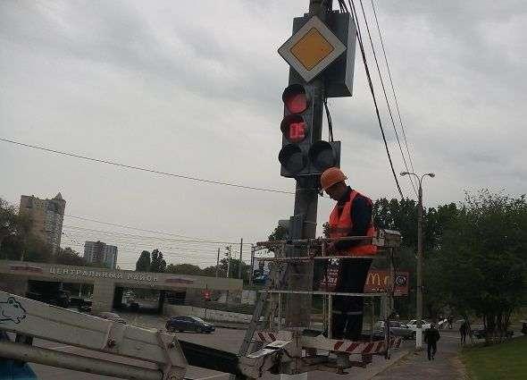 В Волгограде на перекрестках устанавливают светофоры с обратным отсчетом времени