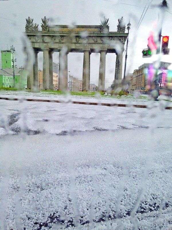 В Санкт-Петербурге выпал июльский снег